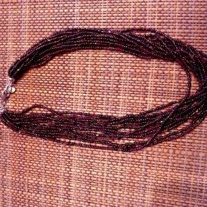 Multi strand brown beaded Silpada necklace